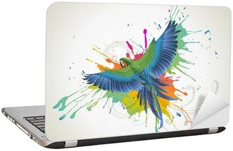 Nálepka na Notebook Papoušek