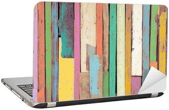 Nálepka na Notebook Pestrý umělecká díla namalovaný na dřevní hmoty pro ročník tapety na pozadí.