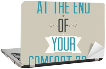 Nálepka na Notebook Plakát s motivačním heslem