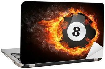 Nálepka na Notebook Pool Billiard míč