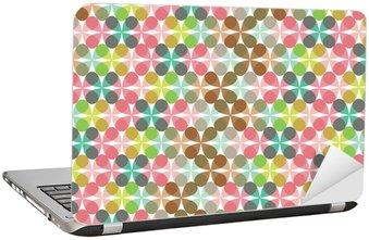 Nálepka na Notebook Retro zábava pastel květina jetel vzor