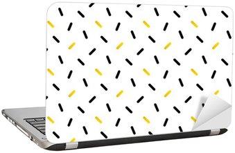 Nálepka na Notebook Roztomilé černé a zlaté konfety, geometrické bezproblémové podtisk.