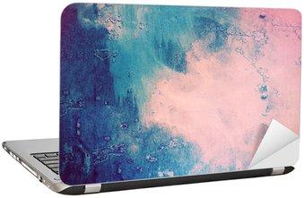 Nálepka na Notebook Růžová a modrá abstraktní pozadí