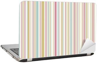 Nálepka na Notebook Růžový pastel pruhy