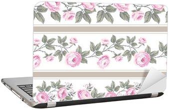 Nálepka na Notebook Sada bezešvých květinové hranic s růžemi