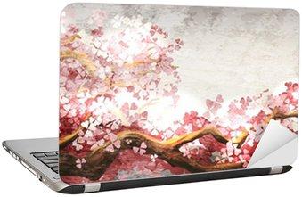 Nálepka na Notebook Sakura větev kvetoucí