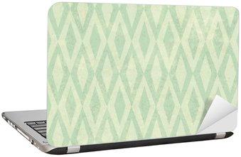 Nálepka na Notebook Seamless Vintage Rhombus vzor. S grunge texturou poza
