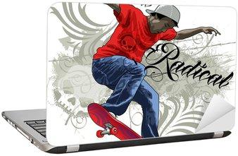 Nálepka na Notebook Skate Radical