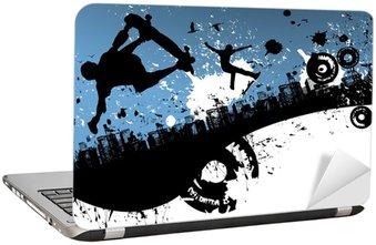 Nálepka na Notebook Skateboard města