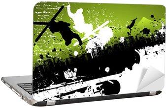 Nálepka na Notebook Ski freestyle abstraktní pozadí