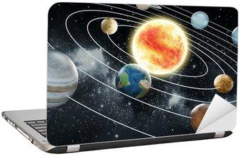Nálepka na Notebook Sluneční soustava ilustrace
