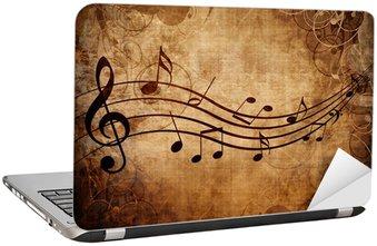 Nálepka na Notebook Stará hudba list