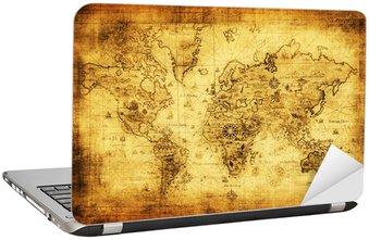 Nálepka na Notebook Starověké mapa světa.