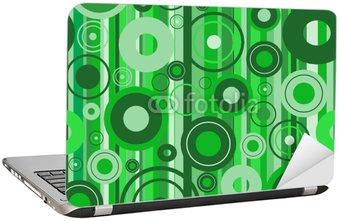 Nálepka na Notebook Stylové zelené pozadí. vektorové ilustrace