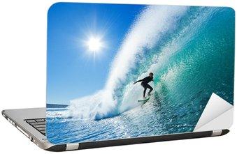 Nálepka na Notebook Surfař na Blue Ocean Wave