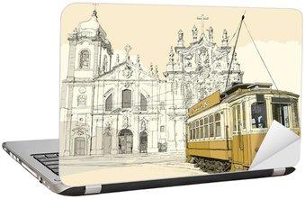 Nálepka na Notebook Tramway v Porto
