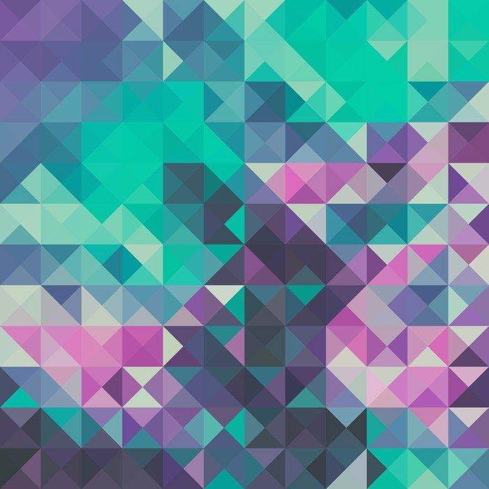 Nálepka na Notebook Trojúhelník na pozadí, zelené a fialové - Grafika