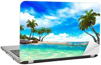 Nálepka na Notebook Tropický ráj pláž