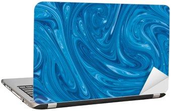 Nálepka na Notebook Tyrkysové akvarel mramor pozadí