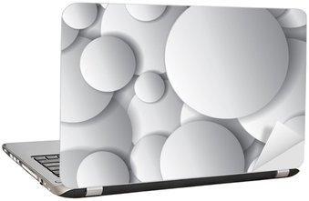 Nálepka na Notebook Vektorové kruhy, minimální objekty, abstraktní vektorové design složení