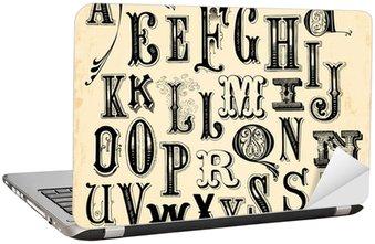 Nálepka na Notebook Vintage abecedy