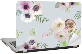 Nálepka na Notebook Vintage květinové pozadí - bezešvé vzor - ve vektorovém