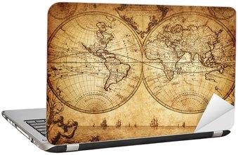Nálepka na Notebook Vintage mapa světa 1733