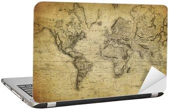 Nálepka na Notebook Vintage mapa světa 1814 ..