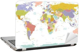 Nálepka na Notebook Vysoké map.Layers Detail World použít.