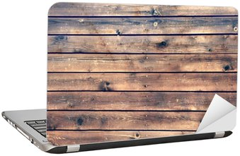 Nálepka na Notebook Wood Board Plank Panel Brown Background, XXXL