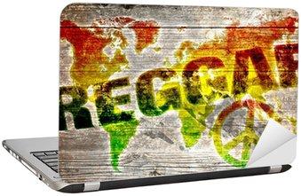 Nálepka na Notebook World reggae hudba koncepce pro mír