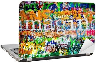 Nálepka na Notebook Zeď Johna Lennona (Praha) - Představte si, že (Toma 1)