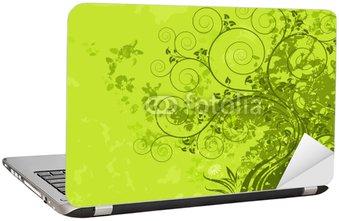 Nálepka na Notebook Zelená abstraktní charakter s grunge pozadí. Vektorové vrstvy.
