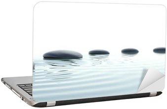 Nálepka na Notebook Zen cesta kamenů v širokoúhlém formátu