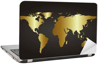 Nálepka na Notebook Zlatá mapa
