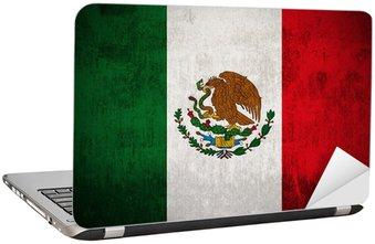 Nálepka na Notebook Zvětralý mexická vlajka, textilie texturované