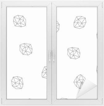 Nálepka na Sklo a Okna Abstrakt polygony bezešvé vzor