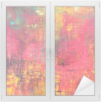 Nálepka na Sklo a Okna Abstraktní barevné ručně malované plátno textury na pozadí