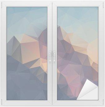 Nálepka na Sklo a Okna Abstraktní geometrické barevné pozadí. Vrcholky hor. Složení s trojúhelníky geometrickými tvary. polygon terén.