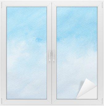 Nálepka na Sklo a Okna Barevné tahy akvarelu umění