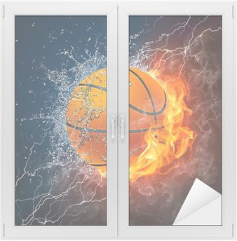 Nálepka na Sklo a Okna Basketbalový míč