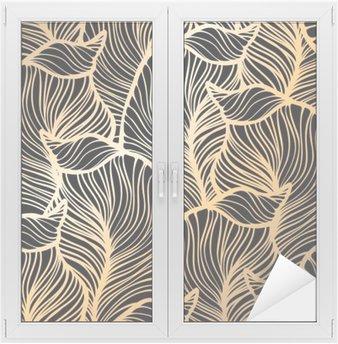 Nálepka na Sklo a Okna Bezešvé květinovým vzorem. Royal tapeta