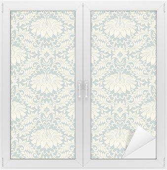 Nálepka na Sklo a Okna Bezešvé vintage květinové pozadí vzor vektoru