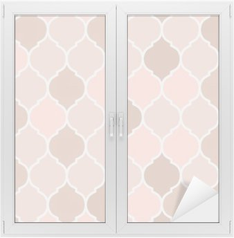Nálepka na Sklo a Okna Bezešvé vzor růžové dlaždice, vektor