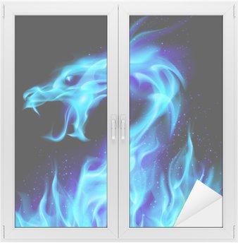 Nálepka na Sklo a Okna Blue Fire Dragon