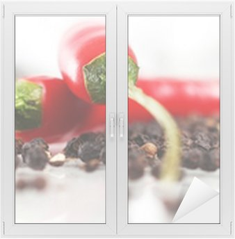 Nálepka na Sklo a Okna Červená chilli papričkou