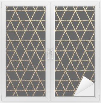 Nálepka na Sklo a Okna Gold textury na abstraktní dovolenou pozadí