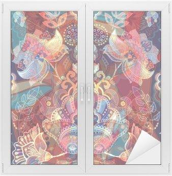 Nálepka na Sklo a Okna Lehké barevné bezešvé vzor