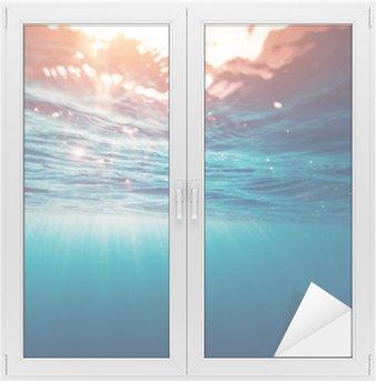 Nálepka na Sklo a Okna Modré moře