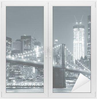 Nálepka na Sklo a Okna New York City Brooklyn Bridge